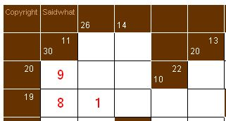 How to play kakuro - Kakuro cross sums combinations table ...